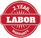 2 year labor warranty